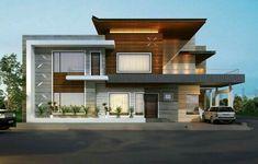 home interior decor ideas Modern Exterior House Designs, Modern Villa Design, Bungalow Exterior, Modern Architecture House, Architecture Design, Exterior Design, 2 Storey House Design, Duplex House Design, House Front Design