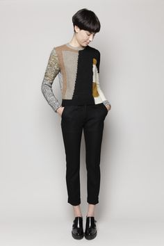 Carven Pullover Patchwork Knit (Multi)