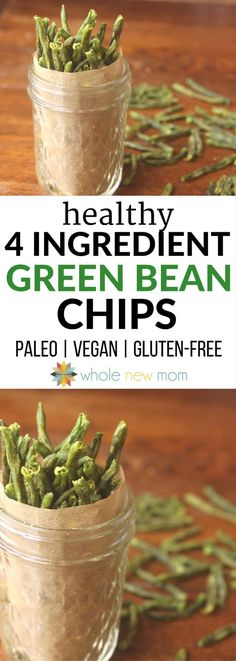 Can't Stop Eating 'Em Crispy Green Bean Chips Healthy Veggie Chips! Get more veggies into your diet with these Crispy Green Bean Chips–a great healthy snack that's easy to make! Crispy Green Beans, Healthy Green Beans, Dehydrated Food, Dehydrated Bananas, Paleo Recipes, Whole Food Recipes, Snack Recipes, Dessert Recipes, Keto Snacks