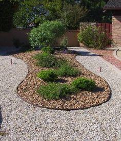 Landscape Border River Rock Mulch Put It In The Garden 400 x 300