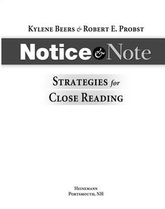 Notice and Note book via slideshare.  ;)