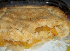 Peach Cobbler / Double Crust