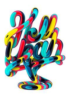Hell Yeah! © Marc Urtasun I Lettering I 3D I Makamo