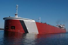 Edwin H. Gott is the most powerful and one of 13 1000 ft lake freighters. This ship was the first to pass through the soo locks for the 2015 shipping season.