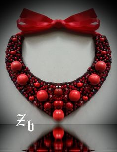 coral&red statement necklace