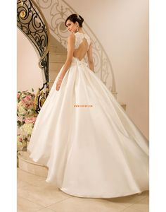 Brillant & Séduisant Printemps Zip Robes de mariée Designer