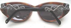 Brighton Handmade Primadonna Black Tortoise Sunglass Silver Scroll  NWT $70 HTF  #Brighton #Designer