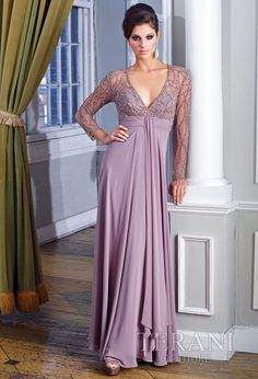 Terani Couture - Mother of the Bride Dress.  #Mushroom #MothersDay #Celebstylewed. @Celebstylewed