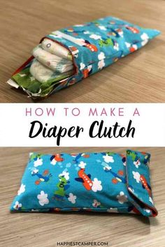 Mom, do you ever just grab some diapers and wipes to cram in your purse for emergencies? Make your own Diaper Clutch! Perfect for a new diapers and wipes. Now you won't have to keep digging through your purse! Easy Sewing Project. Great Baby Shower gift. New mom gift. Mom DIY. Fun sewing project. Diaper Clutch Tutorial, Coin Purse Tutorial, Zipper Pouch Tutorial, Tote Tutorial, Baby Sewing Tutorials, Baby Sewing Projects, Bag Tutorials, Craft Projects, Best Baby Bibs