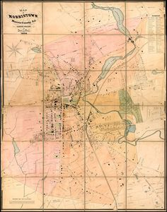 on the hunt for an old map of Morristown -- Map of Morristown Morris County, N.J. Surveyed and Published By Geo. L. Hull. 1874 (Case Map) - Barry Lawrence Ruderman Antique Maps Inc.