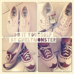 Oxfords | Community Post: 16 Pairs Of Creatively Sharpied Shoes From Pinterest