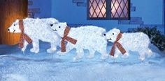 Polar Bear Parade Christmas Yard Decoration