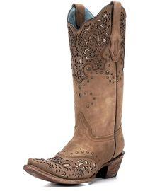 Women s Honey Fango Bronze Glitter Collar and Wing Tip Boot - C2687 on www.  Corral Cowgirl BootsWomens ... 56df125ebad7b