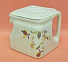 Hall China Autumn Leaf CUBE Teapot Jewel Tea 1 Cup Pot. Click the image for more information.