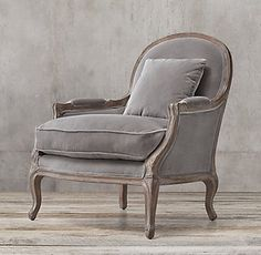 Love this chair from RH for the formal living room. Lyon Chair - Restoration Hardware Pink tufted accent chair - 21 Gorgeous Feminine Home Decor Ideas Navy Blue Living Room, Accent Chairs For Living Room, Formal Living Rooms, Living Room Furniture, Home Furniture, Living Room Decor, Modern Furniture, Furniture Design, Modern Living
