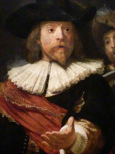 Rembrandt. The Night Watch (The Militia Company of Captain Frans Banning Cocq and of Lieutenant Willem van Ruytenburgh). Detail. 1642. Oil on canvas. Rijksmuseum, Amsterdam, the Netherlands.