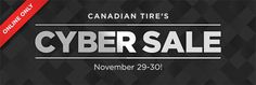 #CanadianTire: Canadian Tire Cyber Monday Sale Coming Soon! http://www.lavahotdeals.com/ca/cheap/canadian-tire-cyber-monday-sale-coming/45781