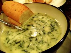 Cream of Spinach Soup with Cheese