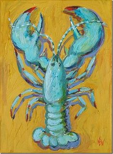 Yellow green lobster