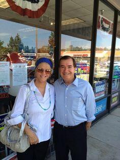 Karen Vipperman with Ed Royce in Fullerton