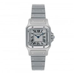 Pre Owned Watches Cartier Steel Santos Quartz Watch | Pre Owned Watch | Laings of Glasgow