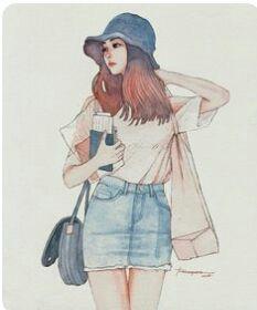 Read ⚛️Gambar fan art from the story Kumpulan gambar fan art untuk cover wattpad by with reads. Cartoon Girl Images, Girl Cartoon, Cartoon Art, Cute Girl Drawing, Cartoon Girl Drawing, Drawing Style, Cool Anime Girl, Anime Art Girl, Tmblr Girl