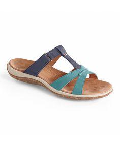 Look at this #zulilyfind! Sea & Navy C2G Lite T-Strap Leather Sandal - Women by Acorn #zulilyfinds