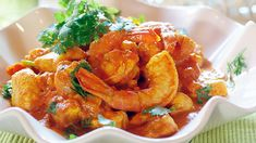 Honey, Coriander, Prawn and Chicken Curry recipe Curry In A Hurry, Curry Spices, Romantic Meals, Curry Dishes, Seafood Dinner, Chicken Curry, Curry Recipes, Prawn, Coriander