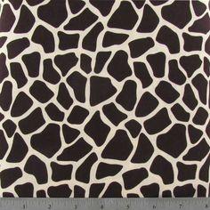 Ivory & Brown Giraffe Apparel Fabric
