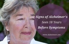 What if you could detect Alzheimer's before symptoms even occurred? A new study has found signs of Alzheimer's 18 years before symptoms. Learn more.