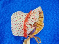 Yellow Baby Bonnet Reversible by AdorableandCute on Etsy, $26.00