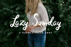 Lazy Sunday - Hand Lettered Script by The Fresh Exchange on @creativemarket Handwritten Script Font, Hand Lettering Fonts, Cursive Calligraphy, Typography, Lettering Design, Coffee Fonts, Display Lettering, Pretty Fonts, Creative Fonts