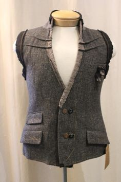 Reconstructed mens vest--small/medium
