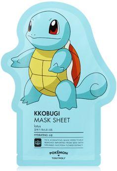 POKEMON_KKOBUGI MASK SHEET - This hydrating korean sheet mask efectively removes impurities from skin with nelumbo nucifera flower extract   Koreansheetmask.com