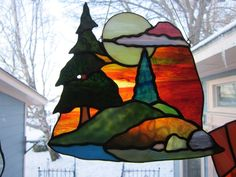 """sunset stained glass patterns 
