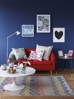 Walls in Farrow & Ball Drawing Room Blue | Pippa Jameson for HomeStyle magazine