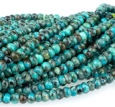 Turquoise Rondelles 4mm