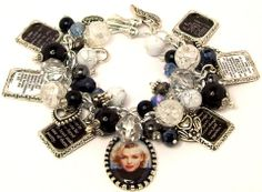Charm Bracelet Marilyn Monroe Quotes by baublesbeadsncharms, $38.88