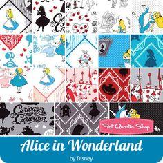 Alice in Wonderland Half Yard Bundle Disney for Camelot Cottons - Alice in Wonderland - Camelot Cottons  | Fat Quarter Shop