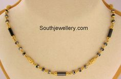 short black beads mangalsutra chains