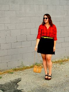 In Kinsey's Closet | Red and black plaid