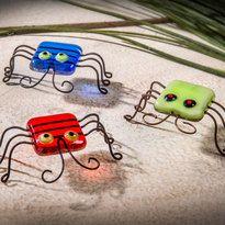 J. Devlin fused glass little bugs set