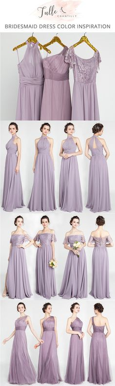 mauve shades of purple bridesmaid dresses 2017 collection