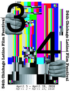 Poster for Chichago Film Festival  Tv effect television hands effects style