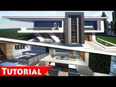 Http://minecraftstream.com/minecraft Tutorials/minecraft Modern . Modern  Mansion InteriorModern House Interior DesignMinecraft ... Part 93