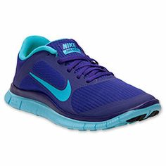 Women's Nike Free 4.0 V3 Running Shoes | FinishLine.com | Electro Purple/Gamma Blue