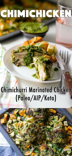Chimichicken: Chimichurri Marinated Chicken for #Paleo #AIP #Keto #Whole30 - easy and full of flavor! // TheCuriousCoconut.com