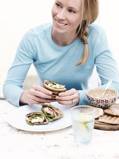 Chicken & Salmon Pitta Breads - FOOD FOR THE FAST LANE. Recipes to Power Your Body and Mind - Derval O'Rourke #TeamDerval