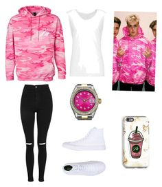 """""""Jake Paul Merch Match"""" by corinne0916 on Polyvore featuring Topshop, Converse, Rolex and Norma Kamali"""