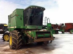 John Deere 9500 combine salvaged for used parts. This unit is available at All States Ag Parts in Sikeston, MO. Call 877-530-7720 parts. Unit ID#: EQ-23702. The photo depicts the equipment in the condition it arrived at our salvage yard. Parts shown may or may not still be available. http://www.TractorPartsASAP.com